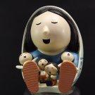 Tribal Storyteller  Ceramic Doll  Figurine 4 Children Blanket South Western