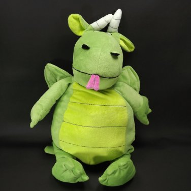 Plush Dragon Pillow Roars Stuffed Animal 3 Years Up Tush Tags