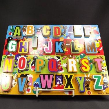 Melissa & Doug Chunky Puzzle Jumbo Alphabet Wooden Age 3 Up #3833