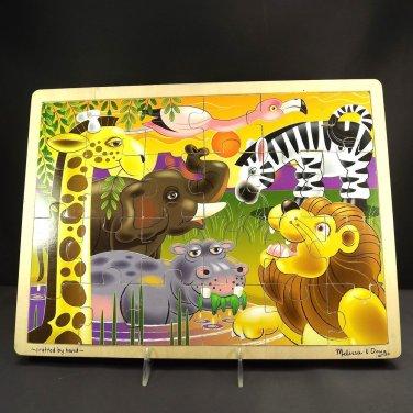 Melissa & Doug African Plains 24Piece Wooden Jigsaw Puzzle Ages 3 Up Fresh Start