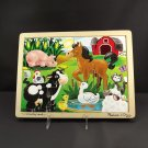 Melissa & Doug On The Farm 12 Piece Wooden Jigsaw Puzzle Ages 3 Up Fresh Start