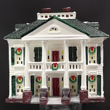 Dept 56 Snow Village Southern Colonial American Architecture Series