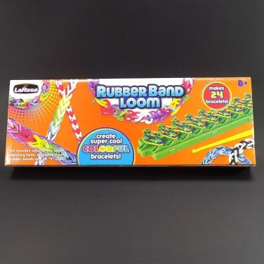 New Rubber Band Loom Kit KIds 8+ Makes 24 Bracelets Latex Free LaRose
