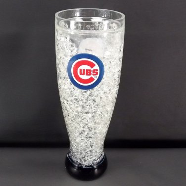 Chicago Cubs MLB Crystal Beer Tumbler Weizen Shaped Plastic