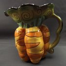 Blue Sky Clayworks Carrot Pitcher Vase Utensil Holder Country Charm  Collection