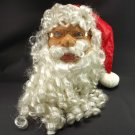 Life Size Santa Claus Head Long Beard Men One Size Blue Eyes Theater Christmas