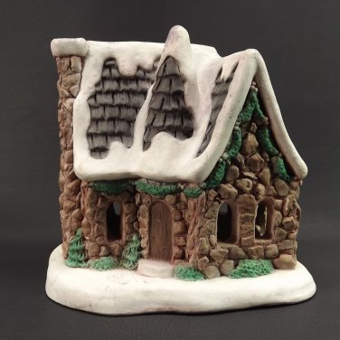 vintage pat betts 1987 christmas village house ceramic hand painted 7x75x525