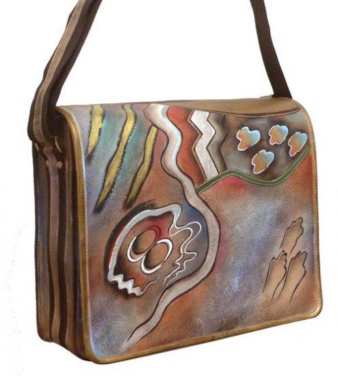 AN410 - Italian Hand-Painted Leather Handbag