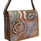AN410 - Italian Hand-Painted Leather Handbag