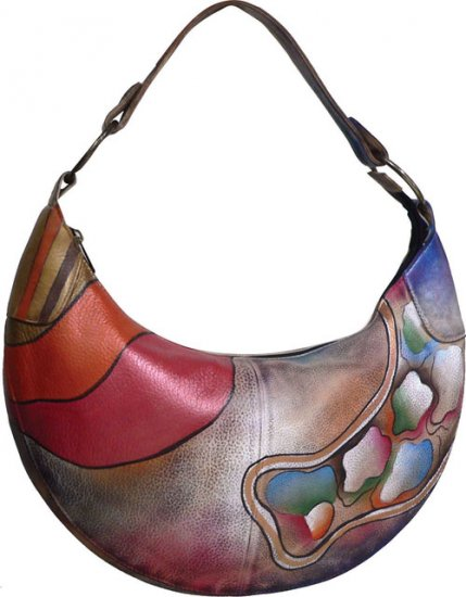 AN390 - Italian Hand-Painted Leather Handbag