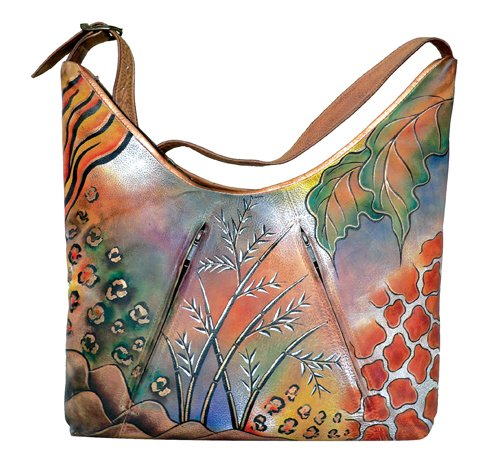 AN363 - Italian Hand-Painted Leather Handbag