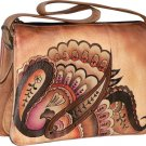 AN373 - Italian Hand-Painted Leather Handbag
