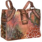 AN400 - Italian Hand-Painted Leather Handbag