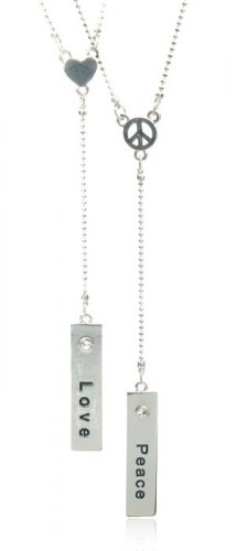 """FJN-781 - Inspirational Rectangle Charm """"Y"""" Necklace"""
