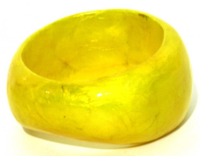 Wide Laminated Bangle - Yellow
