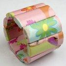 Pink Paper Mache Rectangle Bracelet