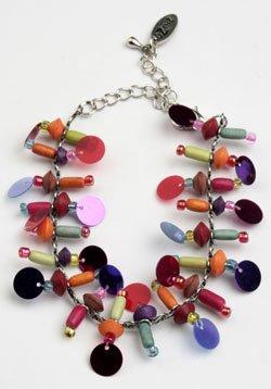 Multi color sequin bracelet