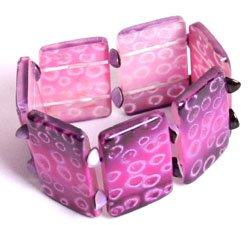 Resin Etched Purple Bracelet