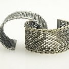 Hard Mesh Braided Cuff - SILVER