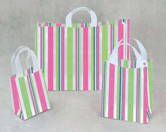 Funky Stripe Frosted Bags (small)