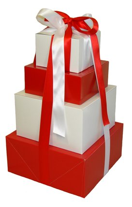 Valentine Gift Tower of LOVE - (ALL WHITE)