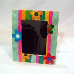 Capiz Shell Laminated Picture Frame Flowers