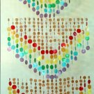 """""""RAINBOW"""" Curtain made of natural capiz shells with Canvas topper."""