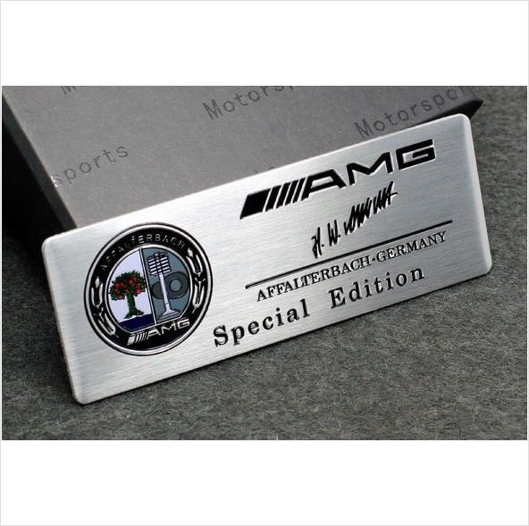 Amg Affalterbach Special Edition Colour Badge Emblem