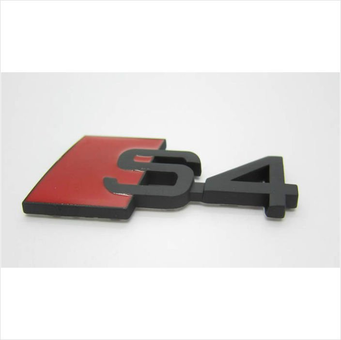 AUDI S4 Metal 3D Badge Emblem Sticker / Black