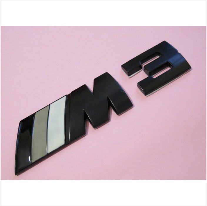BMW ///M3 Black Gray Metal 3D Rear Badge / Emblem Sticker
