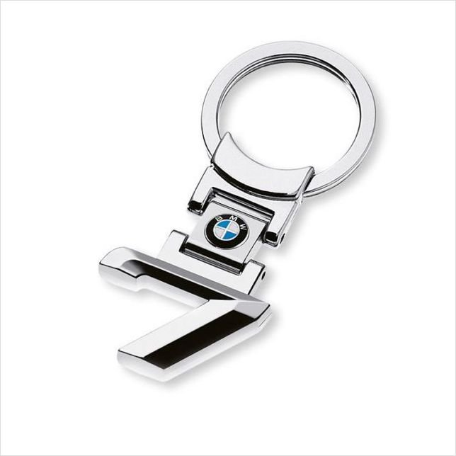 BMW 7 Chrome Metal Keyring