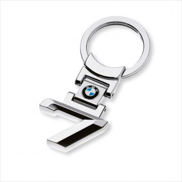 BMW 7 Chrome Metal Keyring