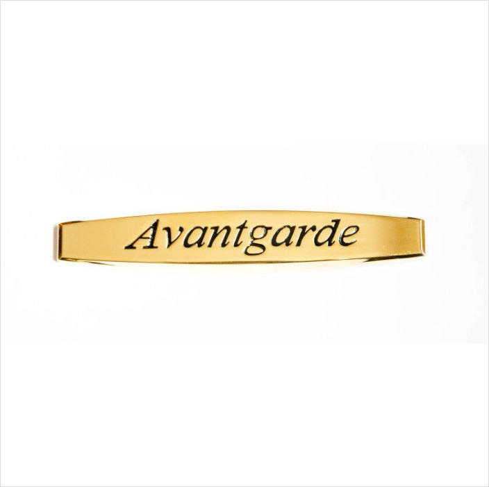 MERCEDES Avantgarde 24K Gold Plated METAL BADGE EMBLEM STICKER