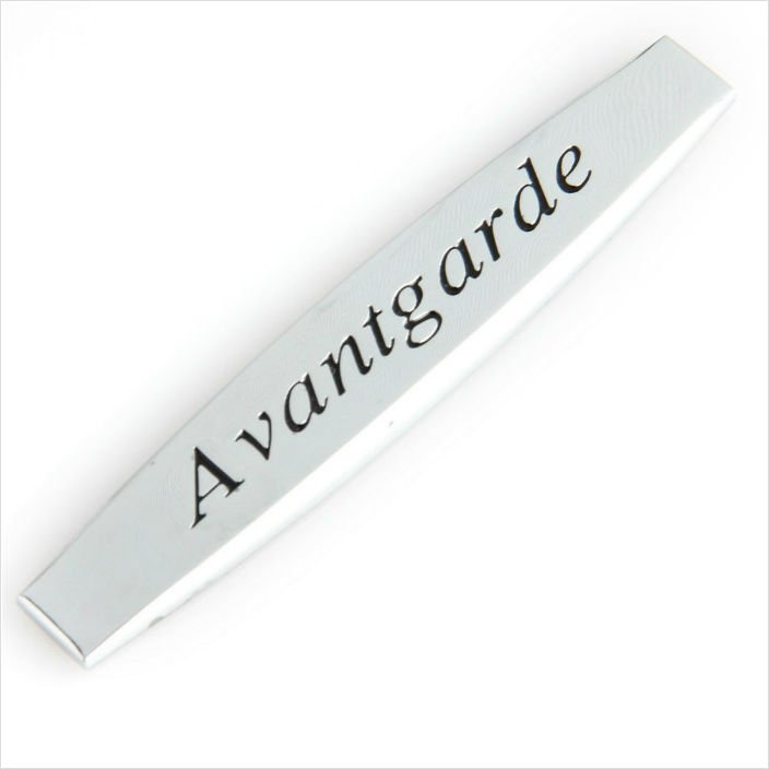 MERCEDES Avantgarde SILVER METAL BADGE EMBLEM STICKER
