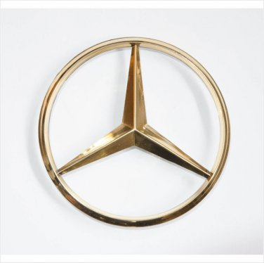 MERCEDES BENZ 24K Gold Plated REAR BOOT BADGE EMBLEM 90mm 3 PIN