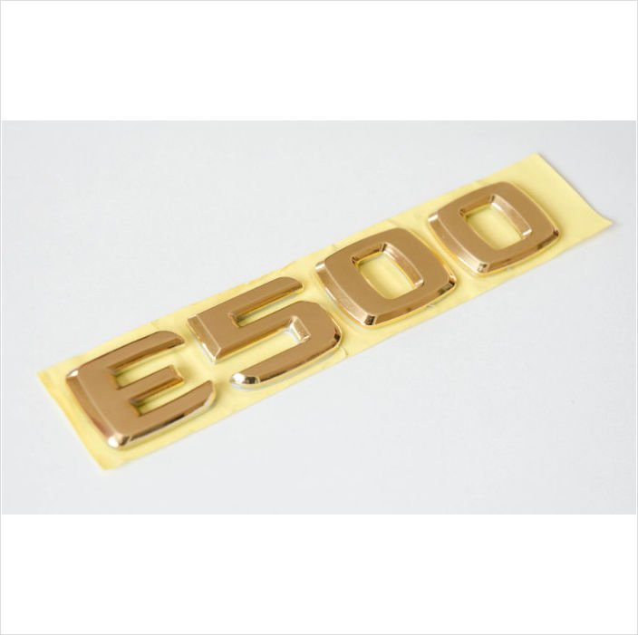 MERCEDES BENZ AMG E500 24K Gold Plated Trunk Rear Emblem Badge