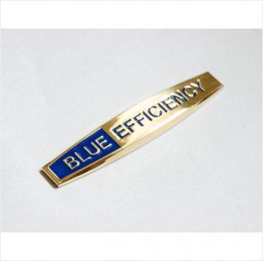 MERCEDES Blue Efficiency 24K Gold Plated METAL BADGE EMBLEM STICKER