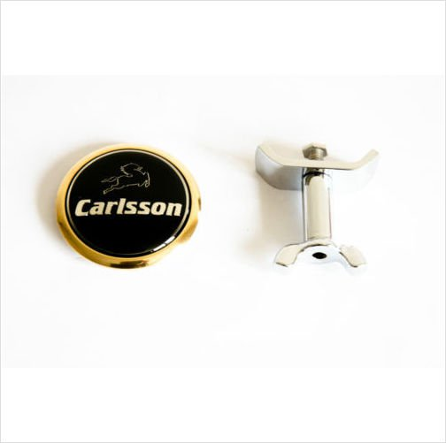 MERCEDES-CARLSSON 24K Gold Plated Front Hood Bonnet Emblem 45mm