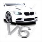 V6 3D Metal Car Front Logo Grill Badge / Emblem