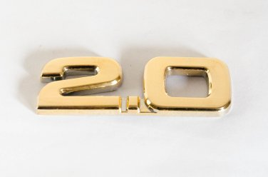 2.0 24K Gold Plated 3D Metal Car Badge / Sticker Decor