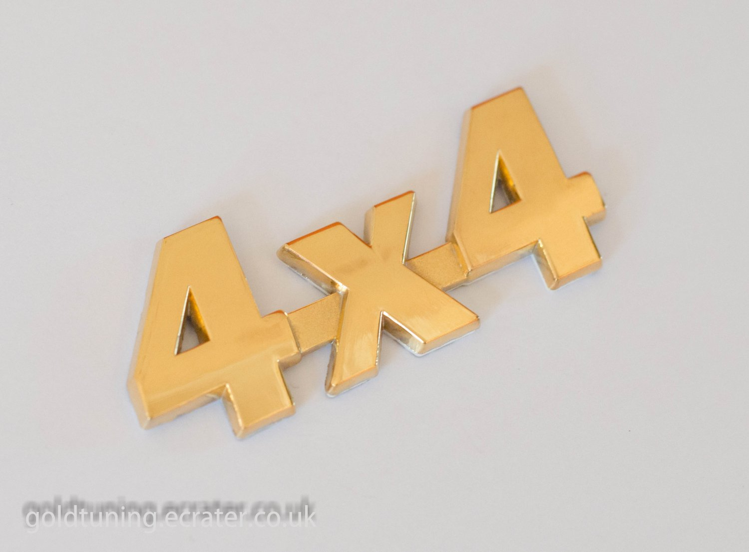 4x4 24K Gold Plated 3D Metal Car Badge / Adhesive Badge Sticker Decor
