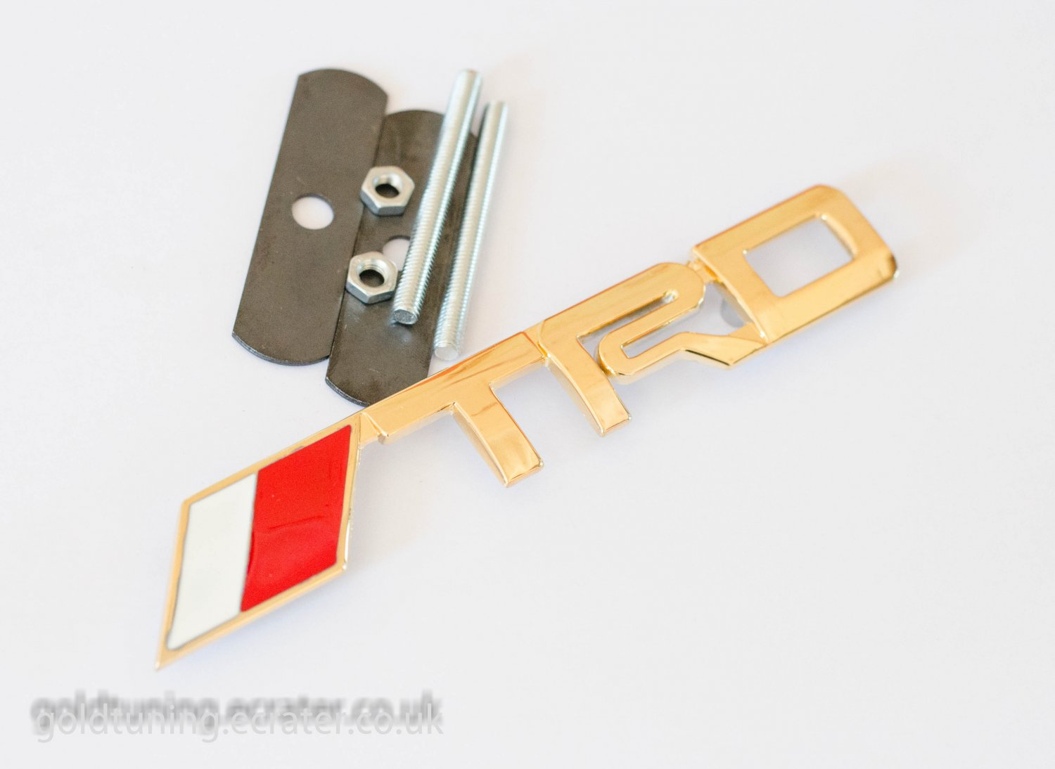 TRD Toyota 24K Gold Plated 3D Grill Badge Emblem