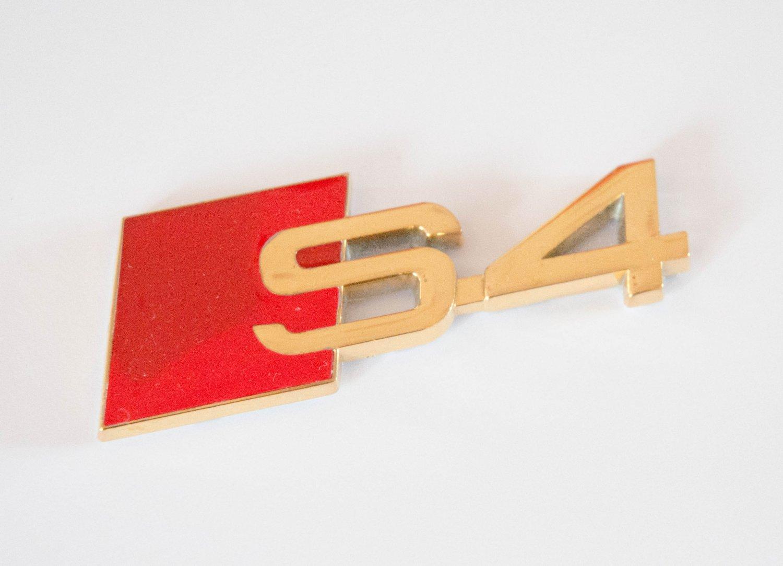 AUDI S4 24K Gold Plated Metal 3D Badge Emblem / Sticker