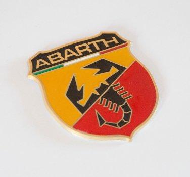 Fiat ABARTH 24K Gold Plated Metal 3D Badge / Emblem Sticker