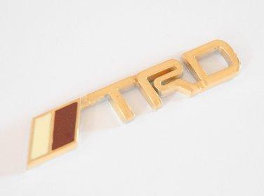 TRD Toyota 24K Gold Plated Metal 3D Badge / Emblem Sticker
