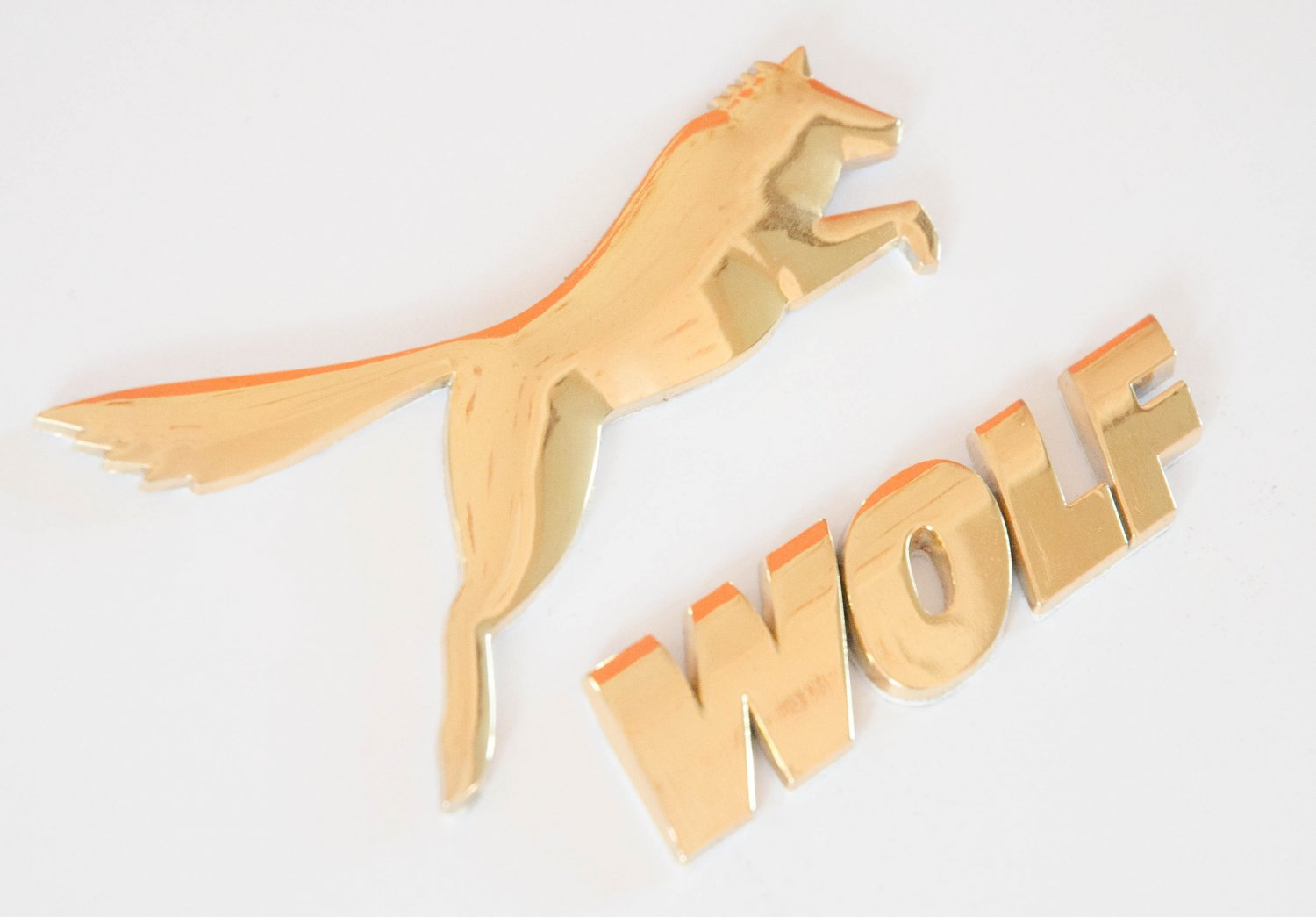 Wolf Ford Racing 24K Gold Plated Metal 3D Badge Emblem Sticker