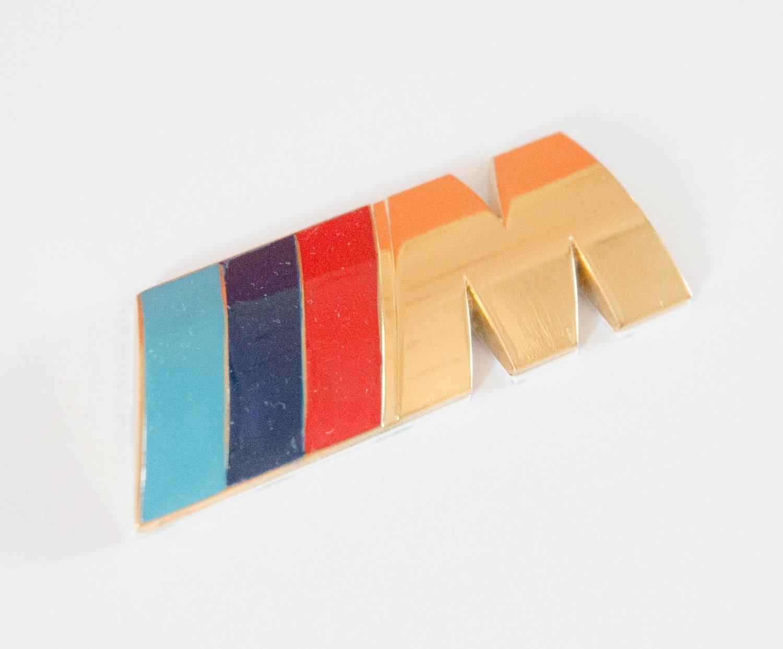 BMW ///M-tech 24K Gold Plated Metal 3D Rear Badge / Emblem Sticker