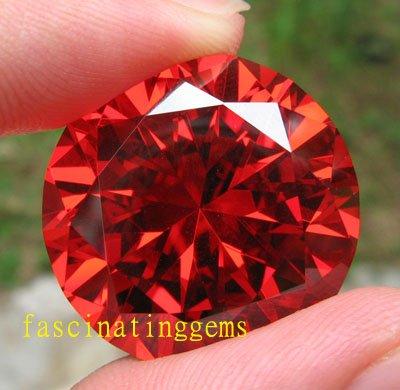 206.65CT HUGE UNBELIEVABLE EXCELLENT RED ROUND ZIRCON
