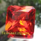 50.00CT BIG BRILLIANT STUNNING SQUARE RICH RED ZIRCON