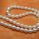 stunning Fresh water 8mm white pearl Necklace,Great price!don't miss!